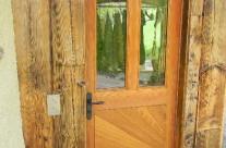 Porte d'entrée en mélèze